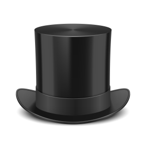 Black Top Hat vector illustration isolated on white background. EPS10 opacity
